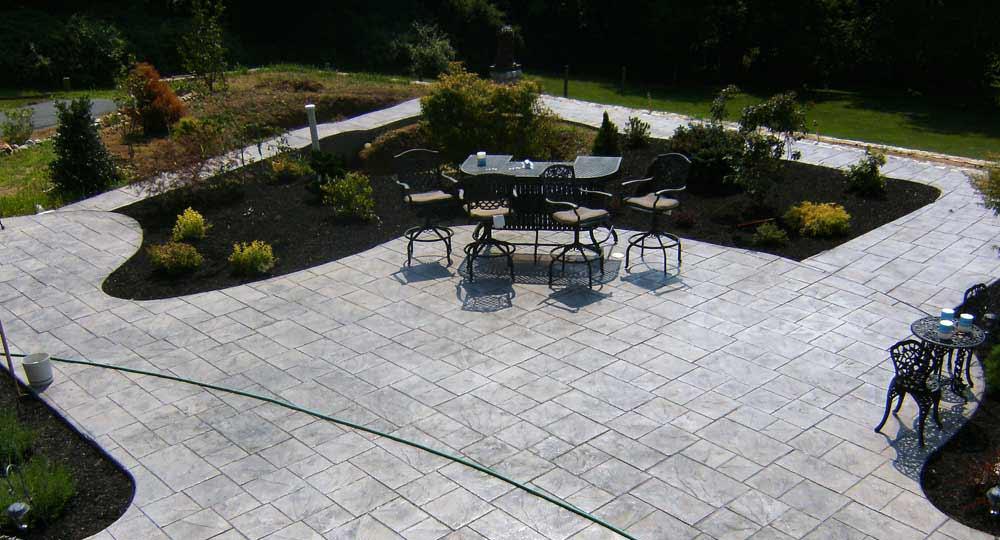 Pavimento Esterno Grigio : Index of img pavimento cemento stampato effetto pietra porfido