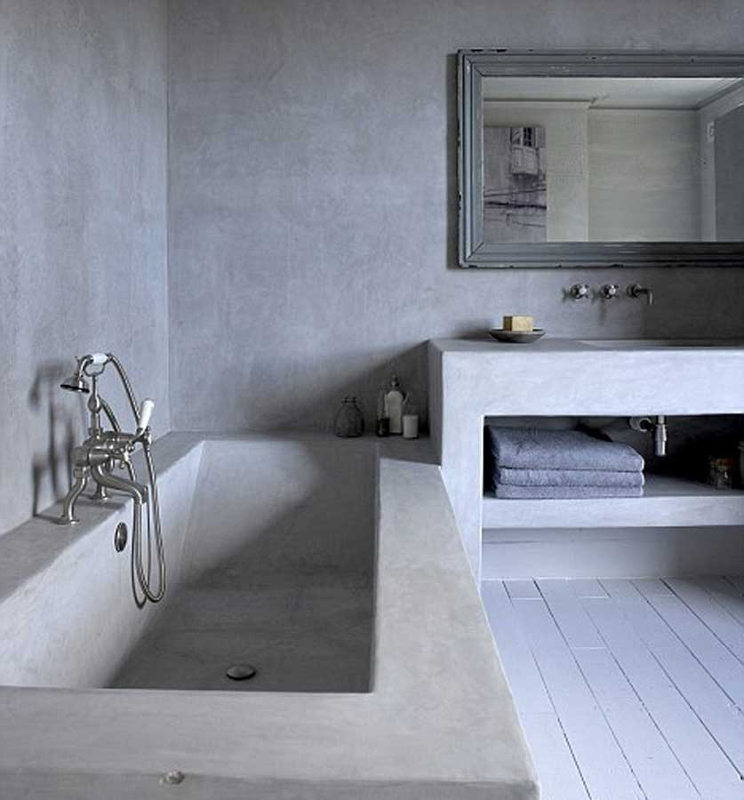 bagno microcemento rivestimento impermeabilizzante vasca da bagno grigio resi