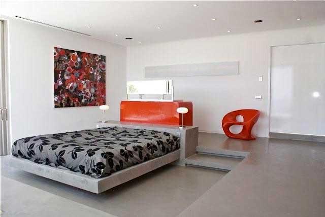 Pavimenti camera da letto elegant pavimento in cemento per la romantica camera da letto with - Pavimenti in cemento per interni pro e contro ...