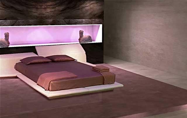 Pareti grigio scuro la scelta giusta variata sul - Giochi da baciare sul letto ...