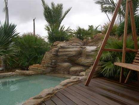 Gfrc, roccia artificiale su progetto, roccia artificiale piscina